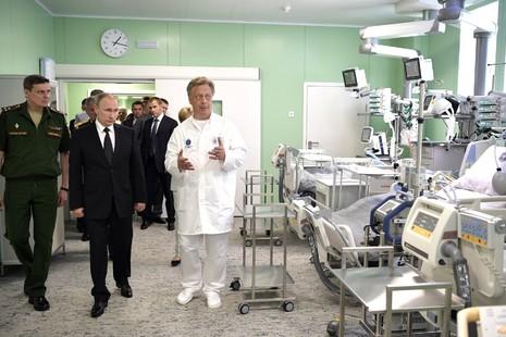 Владимир Путин посетил Военно-медицинскую академию им. С.М. Кирова