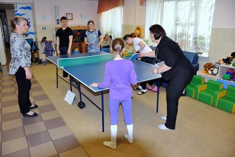 В Центре реабилитации инвалидов прошел День настольного тенниса